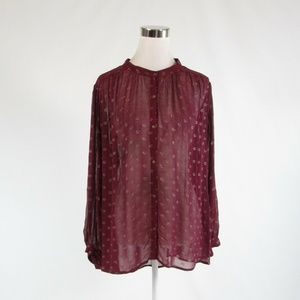 Purple ANTHROPOLOGIE MOULINETTE SOEURS blouse XL